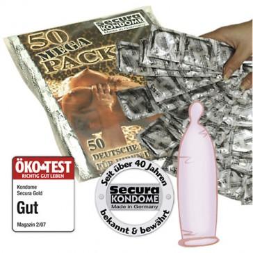 Secura Gold sensazione naturale confezione 50pz