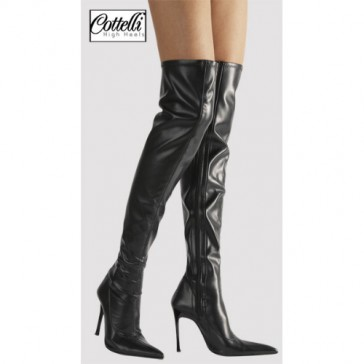 Stivali neri sopra al ginocchio tacco 11cm