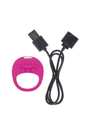 Ela anello vibrante pene 5cmx4.5cm-Rosa scuro