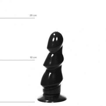 All Black dildo anale nero 17cm