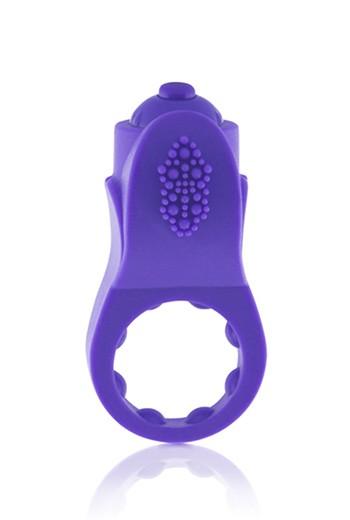 Anello per pene vibrante in silicone Apex-viola