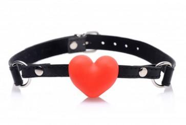 Bavaglio bondage  per bocca a forma di cuore