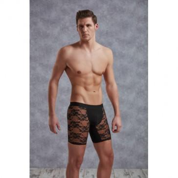 Boxer uomo in tessuto a maglia fine con motivo floreale-S