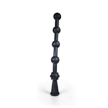 Catena anale XXL in silicone nero Glidelas 40 cm