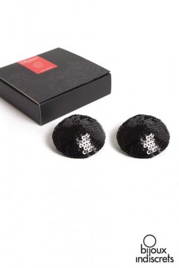 Copricapezzoli neri con paillettes