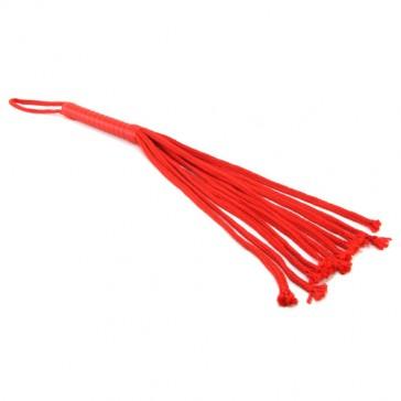 Frusta rossa lunga 61 cm Flogger Rope