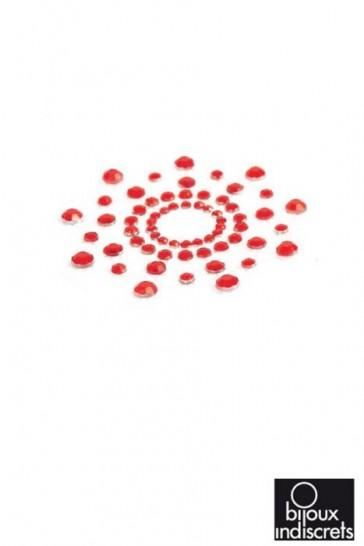 Copricapezzoli con brillanti - Gioielli da pelle Mimi-Rosso