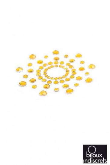 Copricapezzoli con brillanti - Gioielli da pelle Mimi-Oro