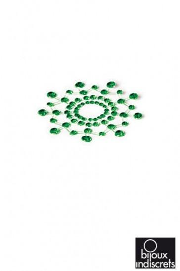 Copricapezzoli con brillanti - Gioielli da pelle Mimi-Verde