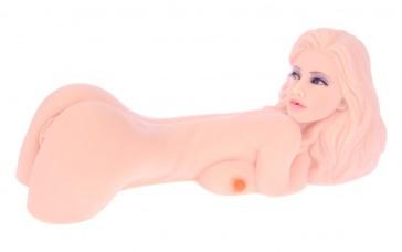 Hera 1 Bambola realistica 3P masturbatore bocca, vagina e ano 32cm