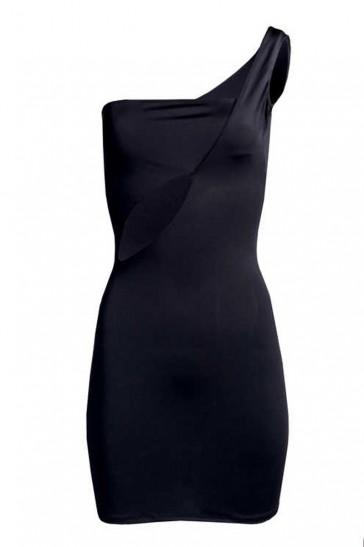 Joan sexy mini abito nero