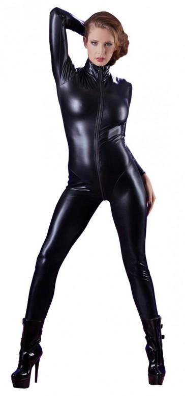 Jumpsuit integrale nera maniche lunghe
