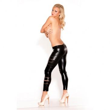 Leggings sexy neri effetto bagnato Allure