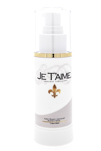 Lubrificante naturale a base d'acqua Je T'Aime 100ml