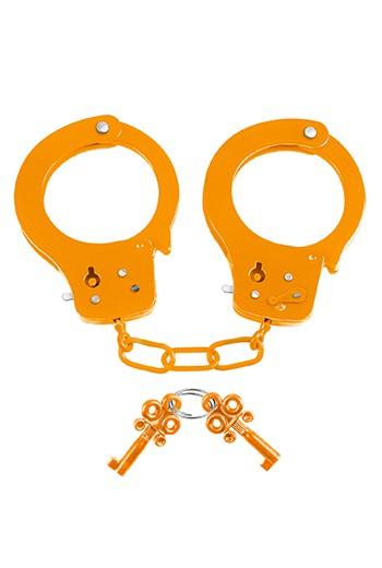 Manette in metallo Neon Fun Cuffs arancione Pipedream