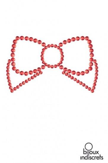 Mimi Bow copricapezzoli a forma di fiocco-Rosso