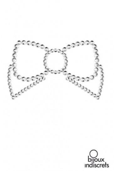 Mimi Bow copricapezzoli a forma di fiocco-Argento