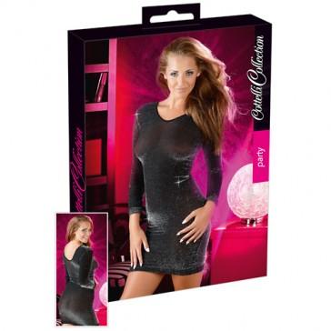 Mini abito nero lucido Glossy