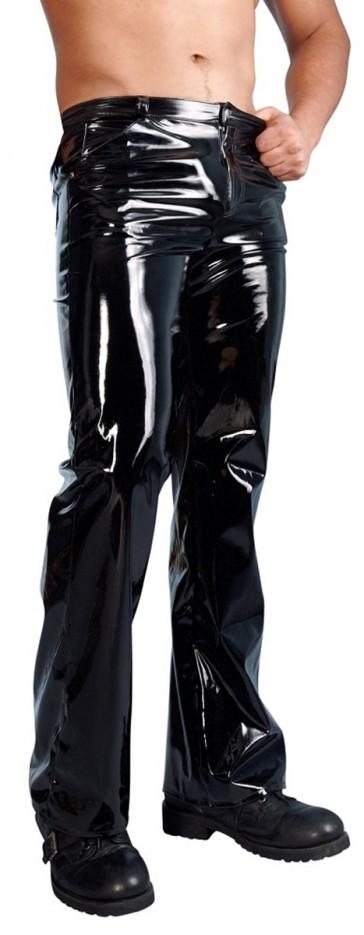 Pantaloni uomo in vinile nero