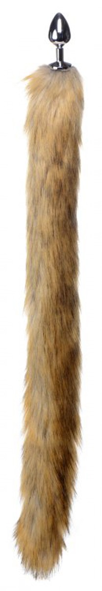 Plug anale con lunga coda di finto visone 86cm