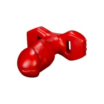 Plug anale rosso a forma di pene BOSS Slider - small