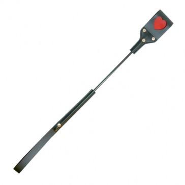 Sculacciatore nero con piccolo cuore rosso 55cm