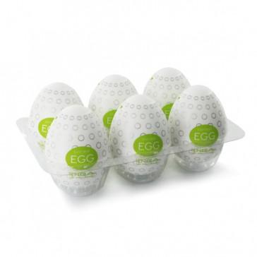 Set 6 uova masturbanti Egg Clicker verde Tenga