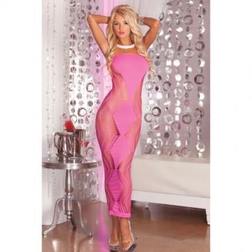 Sexy abito lungo con design a zig zag