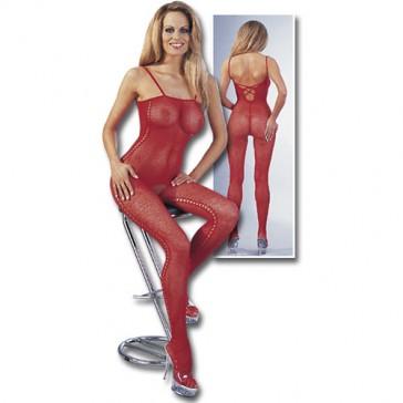 Sexy catsuit rossa aperta al cavallo Mandy mystery Line