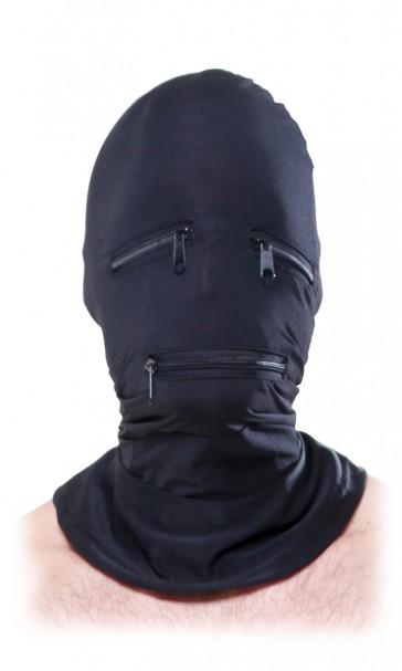 Zipper Face Bondage Cappuccio viso con cerniere