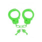 Manette in metallo Neon Fun Cuffs verde Pipedream