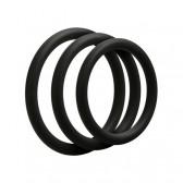 Set 3 anelli sottili in silicone per pene o testicoli OptiMALE
