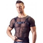 T-shirt uomo trasparente con imbracatura a pettorina