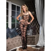Bodystocking nero con motivo a croci