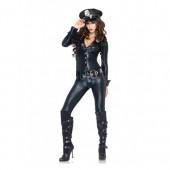 Costume da poliziotta tuta nera