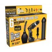 Drilldo 6 pezzi Spiral Sex machine Portable