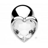 Icy plug anale con strass a forma di cuore