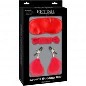 Lover's Bondage Kit 3 pezzi rossi Pipedream