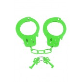 Manette in metallo Neon Fun Cuffs verde Pipedream