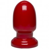 Plug anale Shell Shock small 15x7cm rosso