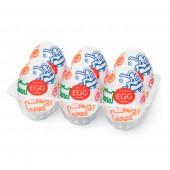 Set 6 uova masturbanti Street Egg design Keith Haring Tenga