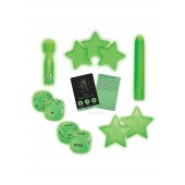 Set massaggiatore corpo e accessori glow in the dark