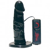Strap-on dildo nero 17 cm Queeny Love Black