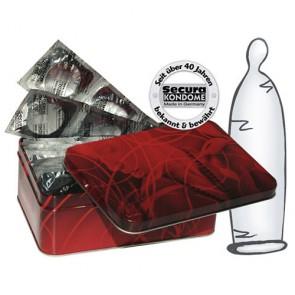 Preservativi Ultra Sottili Secura in scatola di latta 50pz
