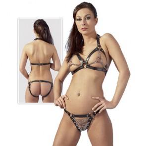 Bikini in pelle con catene