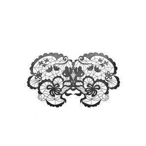 Anna Maschera in vinile nero senza elastico