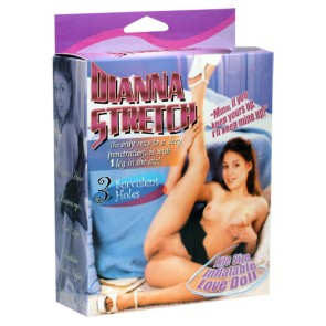 Bambola gonfiabile Dianna Stretch 3 fori gamba alzata