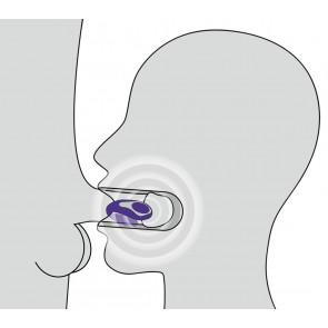 Blow Job vibratore per bocca in silicone viola