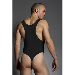 Body uomo elasticizzato nero