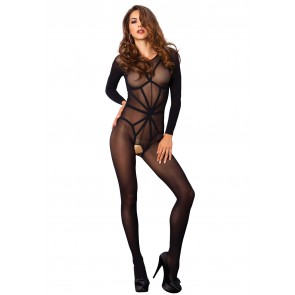 Bodystocking nero opaco Illusion